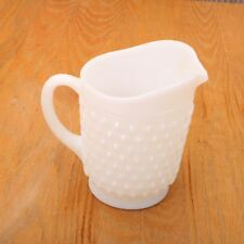 Vintage White Milk Glass Hobnail Pitcher Creamer