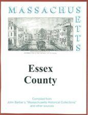 History of Essex County Massachusetts reprint of John Barber 1839