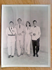 HUMPHREY BOGART - CASABLANCA scarce US 8x10 cast photo 1943 Ingrid Bergman RAINS