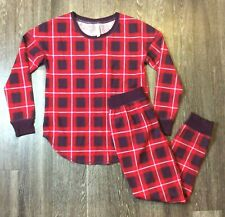 Gilligan & O'Malley Women Pajama Purple Red White Plaid Size M