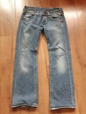 """REPLAY STRAIGHT LEG LOW RISE FADED MED BLUE JEANS W31"""" L34"""""""