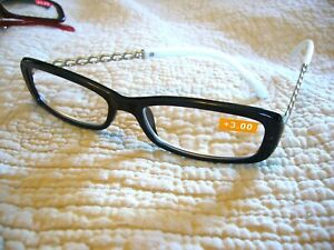 WOMEN'S LADIES ELEGANT READING GLASSES WITH A CHAIN LIKE LOOK ON ARMS (RS-1195)