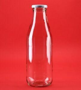 100/200/250/500/1000 ml Glasflaschen Saftflasche Milchflasche Flasche mit Deckel