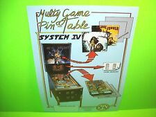 MAC Mac's Galaxy Multi Game Pin Table System IV Original Pinball Machine Flyer