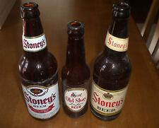 3 STONEY'S BEER BOTTLES - 1 OLD SHAY - VINTAGE - JONES BREWING