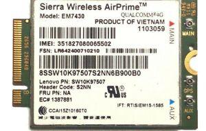 01AX737 LENOVO THINKPAD GOBI6000 Sierra EM7430 LTE/WCDMA 4G WLAN wireless card
