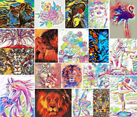 DMC Modern Colorful Cross Stitch Embroidery Pattern Kits Chart PDF 14 count