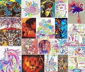 DMC Modern Colorful Cross Stitch Embroidery Pattern Chart PDF 14 count