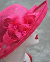 Ladies Womens Kentucky Derby Wedding Sinamay Dress Roll Church Race Hat T120