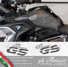 Set Adesivi Fianco Serbatoio Moto BMW R 1200 gs LC Executive 2017 TWO GREY