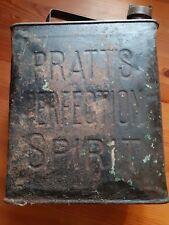 Vintage - Pratt's - Petrol Fuel Can With Brass Cap