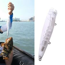 Unpainted Artificial Fishing Lures Popper Hard Baits Wobblers Tackle Accessories