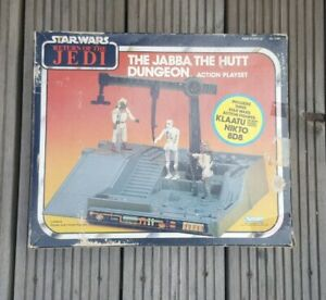 VINTAGE STAR WARS JABBA THE HUTT DUNGEON PLAYSET & FIGURES ROTJ JABBAS PALACE