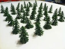 Lot Miniature Mini Trees Wargame, Nativity, Model Trains, Christmas Trees