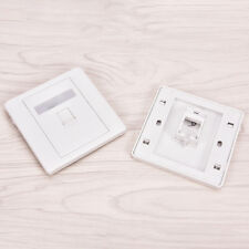 86 Type Single Port RJ45 Wall Flat Face Plate Ethernet Network Socket Panel KY