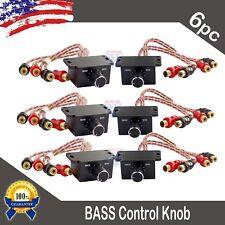 6) Universal Car Audio Amplifier Bass Boost RCA Level Remote Volume Control Knob