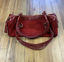 Kate Spade New York Suede/Leather Womens Shoulder Bag Red