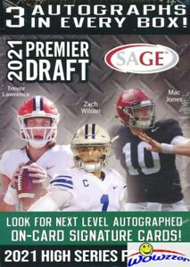2021 Sage Football HIGH EXCLUSIVE Factory Sealed Blaster Box-3 AUTOS+10 PARALLEL