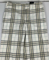 Burberry London Nova Check Cropped Pants Women's 6 Made France Casual Cotton
