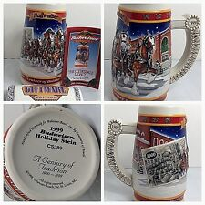 Budweiser Holiday Beer Mug Stein 'A Century of Tradition 1900-1999 Displayed