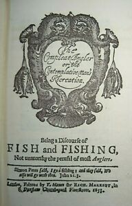 1876 THE COMPLETE ANGLER by IZAAK WALTON FACSIMILE REPRINT ILLUSTRATED TROUT  ^