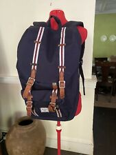 "Herschel Supply Co. Little America Backpack Red White  Navy 15"" Laptop Sleeve"