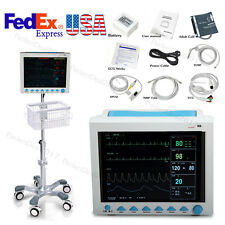 ICU Patient Monitor Vital Signs Monitor 6 Parameters with Stand / Troller Cart