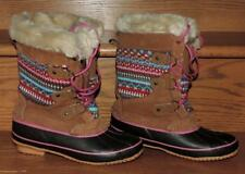Nw/oT KHOMBU WOMENS SUEDE LEATHER FAUX FUR Sz 6 INSULATED SNOW BOOTS STEEL SHANK