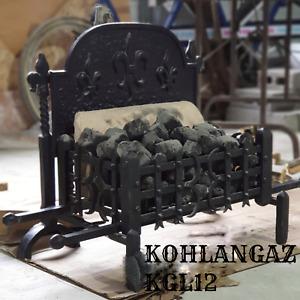 Traditional Style Cast Iron Gas Fire Basket - Kohlangaz KGL12