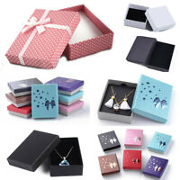 Cardboard Jewelry Gift Boxes Bracelet Bangle Watch Necklace Ear Ring Wedding Box