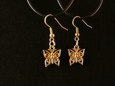Schmetterling Ohrringe 24 Karat Vergoldet Tier Frühling Charm Gold Hänger