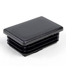 40x80-10 pcs Rectangle plastic Black Blanking cups Tube Pipe insert Plug