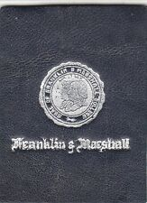 1910 Tobacco College Leather Franklin & Marshall Silver Seal