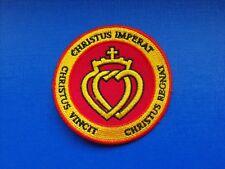 écusson insigne tissu patch religieux Scoutisme Christus Vincit Double Coeur