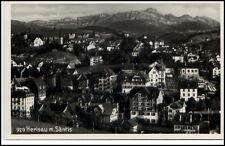 Herisau Schweiz alte Postkarte ~1935/40 Gesamtansicht mit Säntis ungelaufen
