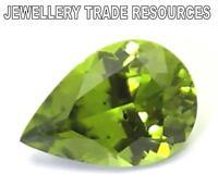 10mm x 6mm Natural Green Peridot  Pear Cut Gem Gemstone