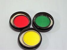 3 Series VI Filters w/ Kodak Case's Yellow K2 - Green Wratten X2 - Red Wratten A