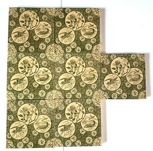 Seven rare transfer print Victorian tiles
