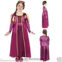 CK448 Tudor Girl Renaissance Princess Medieval Fancy Dress Up Costume Book Week