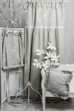 ROSE QUEEN GRAU Vorhang 100x250cm FRENCH Romantik Gardine Raffgardine Shabby NEU