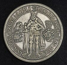 New listing 1603 Teutonic Knights Maximilian Thaler Medal Lauer Restrike 1800S Ultra Rare