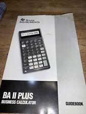 Texas Instruments Ba Ii Plus Calculator Instruction Book Manual Guide Guidebook