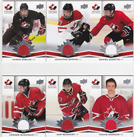 14-15 Team Canada Juniors Travis Sanheim Jersey Upper Deck 2014