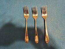 New listing 3 Salad Forks Gorham Meredith 18/8 Stainless Steel