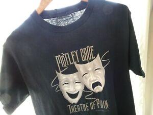 Vtg 00s Motley Crue Theatre Of Pain Metal Rock Band Faded Black Concert TShirt M