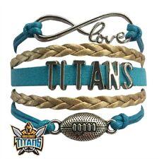 GOLD COAST TITANS Leather Bracelet NRL Football Jewellery Exclusive Design