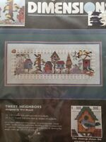 NEW VTG Dimensions Counted Cross Stitch Kit # 3840 ~ Tweet Neighbors ~ Birds