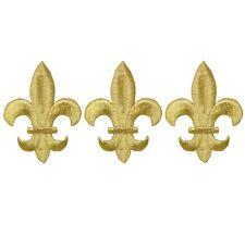 "0321 Bronze Fleur De Lis Beaded Sequin Applique 4/""  ~ @@ Crafts /& Sewing ~ @@"