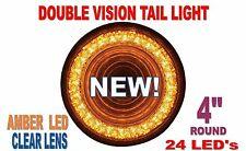 "24 LED 4"" ""MIRAGE"" TURN SIGNAL LIGHT - AMBER LED/CLEAR LENS"