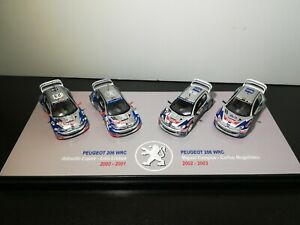 1/43 X4 Special Box Lopes Campos 206 WRC Silver Team Rally Transkit code 3